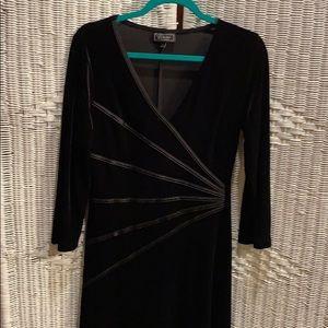 Dress Barn Black Velvety Dress